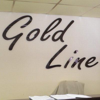 Оформление ресепшн для салона красоты Gold Line
